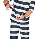 PRISONER CONVICT HALLOWEEN COSTUME Adult Men Med 38-40