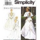 Simplicity 8176 Jessicat McClintock Bride Dress Misses 4-8 1992