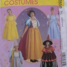 McCall's 2856 Snow White Cinderella Witch Costumes Girls 2-4