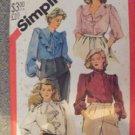 Simplicity 5621 Blouse Shirt Pattern Womens 22 1/2 1982