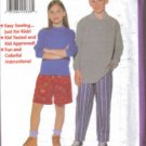 Butterick 4537 Shorts Pants Boy Girl 7-14 1997