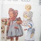 McCall's 7498 Infant Dress Sundress Pinafore Pantaloons Uncut