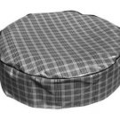 1965 Mustang Spare Tire Cover Black Gray Plaid