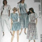 McCall's 4892 Jumper Jumpsuit Top Miss 10 1990