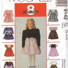 McCall's 9142 Sunday Dress Grils 2-3-4 1997