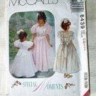 McCall's 6439 Princess Dress Petticoat Girls 2-3-4 1993