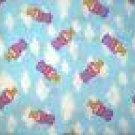 ANGEL ANGELS HALO BLUE FLANNEL JAFTEX FABRIC OOP