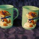 Nestle Quik Bunny 2 Advertising  Mugs Vintage
