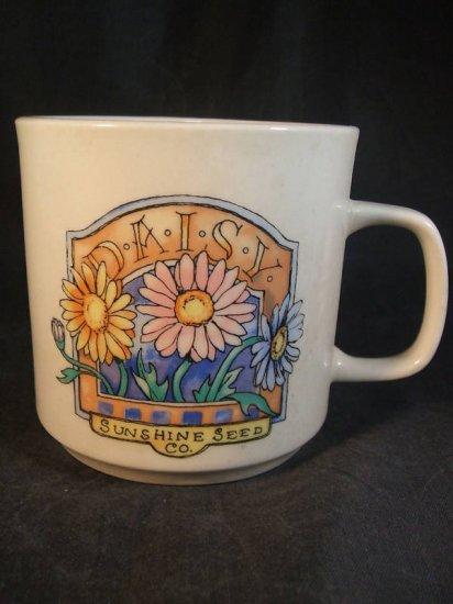 Daisy Sunshine Seed Company Gibson Coffee Cup Mug Set 3
