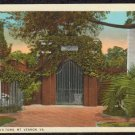 WASHINGTON'S TOMB MT. VERNON VA Postcard 1934