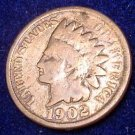 U.S.1902  Indian Head One Cent Piece Penny