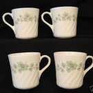 Corning Ware Corelle Callaway Ivy Coffee Cup Mugs Set 4