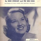 Tennessee Waltz Sheet Music Patti Page 1948