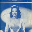 Along the Navajo Trail Dinah Shore Sheet Music 1954