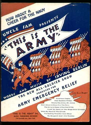 UNCLE SAM THIS IS THE ARMY SHEET MUSIC IRVING BERLIN 1942