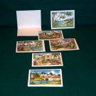 Virginia Carleton Bermuda Watercolor Prints Set of 6 1950s