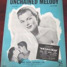 Unchained Melody Sheet Music Barbara Hale 1955