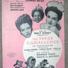 You Belong to My Heart Sheet Music Three  Caballeros 1943