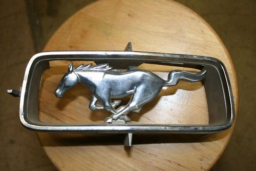 1965 Ford Mustang Horse & Corral Grille Emblem Original