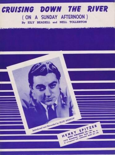 CRUISING DOWN THE RIVER Sheet Music 1945 Blue Barron