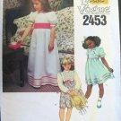 Little Vogue 2453 Dress Cummerbund Girls 5 1980s