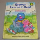 Sesame Street Grover Learns to Read So Embarrassed 2 Books