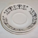 Homer Laughlin Best China Restaurant  Black on White 2 Saucers