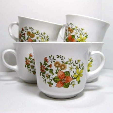 CORNING INDIAN SUMMER 7 Cups Mugs 1977-1986