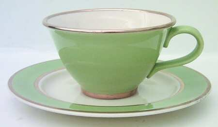 CLASSIC HERITAGE CELADON GREEN TAYLOR SMITH TAYLOR Cup Saucer 2 Sets