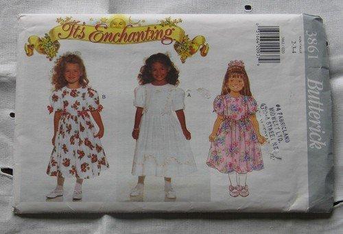 Butterick 3861 Princess Dress Girls 5-6-6X 1995