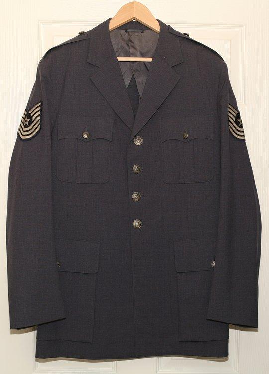 USAF AIR FORCE UNIFORM DRESS BLUE 84 Wool Serge Vintage