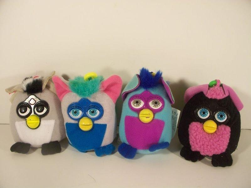 McDonald's 2002 Furby Plush Keychains Set 7