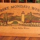 Robert Mondavi Winery Napa Valley Wood Display Sign 1970