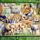 IT'S ZOOLOGICAL JUNGLE ANMALS QUILT FABRIC PANEL SPRINGS INDUSTRIES