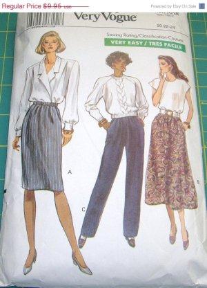 Vogue 7677 Skirt Pants Misses 20 22 24 1989