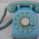 Turquoise Blue Bell System  Western Electric Rotary Dial Telephone 1960s
