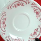 Homer Laughlin Best China Restaurant Ware Caribe Red Floral 2 Saucers