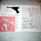 LAHTI M40 PISTOL SWEDEN IMPORTED US 1949-50 ARTICLE PHOTOS 1961