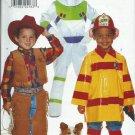 Butterick 4654 Cowboy Fireman Spaceman Costumes Boys 2-6X 1996