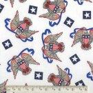 AMERICAN FLAG EAGLE STAR PATRIOTIC FABRIC OOP