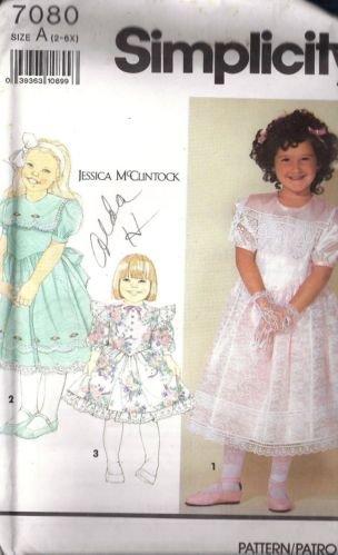 Simplicity 7080 JESSICA McCLINTOCK DRESS 2-6X