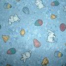 Easter Bunny Eggs Teresa Kogut Bears 'n Hares MM Fabric