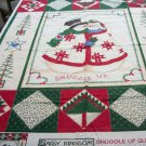 Daisy Kingdom Snuggle Up Snowman Quick Quilt OOP