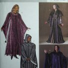 Butterick 4050 WIZARD HOODED CAPE ROBE COSTUMES XS-X-M