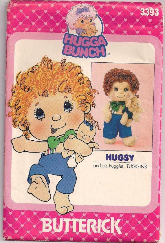 Butterick 3393 HUGGA BUNCH HUGSY TUGGINS OOP