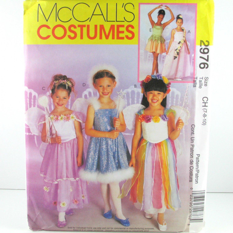 McCall's 2976 BALLERINA FAIRY PRINCESS COSTUMES 7-8-10 OOP