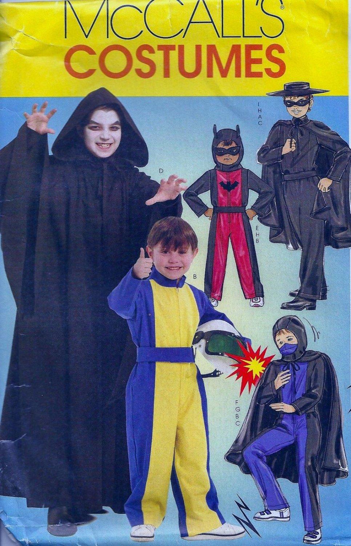 McCall's MP319 HERO COSTUMES BATMAN ZORRO RACER Boys 7-14