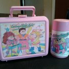 CABBAGE PATCH KIDS CPK PLASTIC ALADDIN LUNCHBOX THERMOS 1990