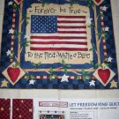 DAISY KINGDOM LET FREEDOM RING QUILT PANEL OOP