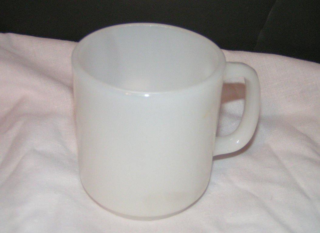 ANCHOR HOCKING OVEN PROOF WHITE MILK GLASS MUG Set of 3